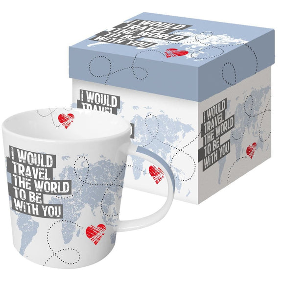 Travel The World Boxed Gift Mug