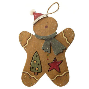 Festive Hanging Gingerbread Man - Caths Direct