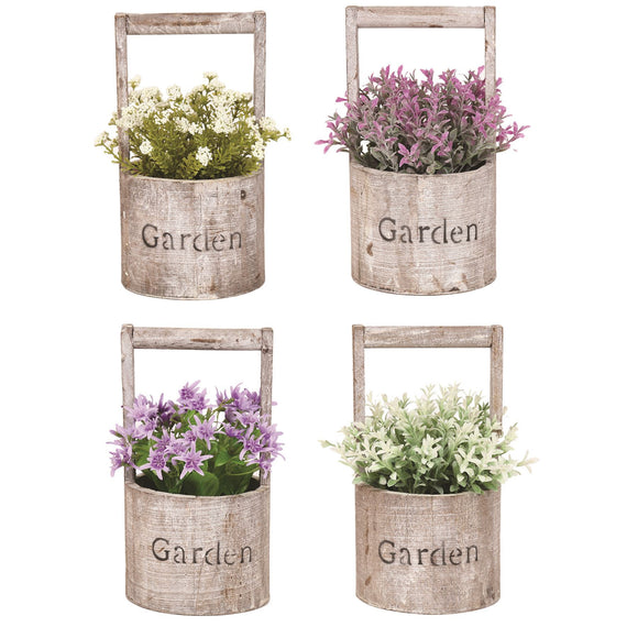 Spring Floral Rustic Bucket - Caths Direct