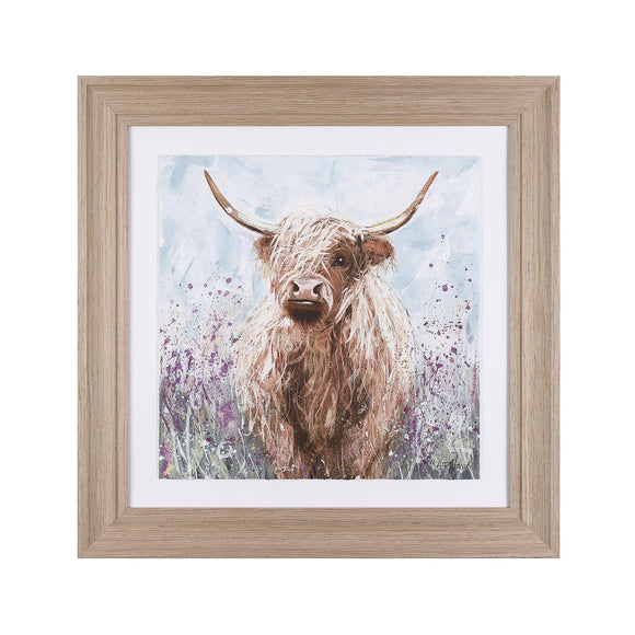 Heather the Highland Cow Framed & Glazed Picture - Caths Direct