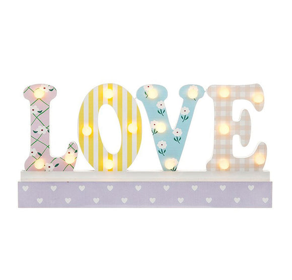 LED Word Love Mantel Sign - Caths Direct