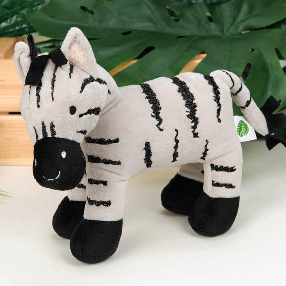 Jungle Baby Bristol the Zebra Soft Toy 21cm - Caths Direct