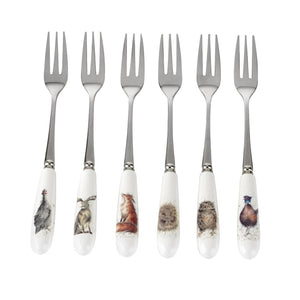 Wrendale Design Boxed Set of 6 Pastry Forks - Caths Direct