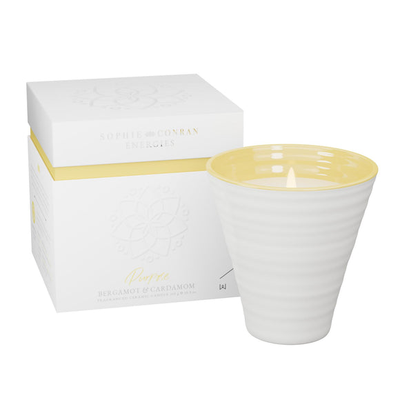 Sophie Conran Energies Purpose Bergamot and Cardamom Ceramic Candle by Wax Lyrical - Caths Direct