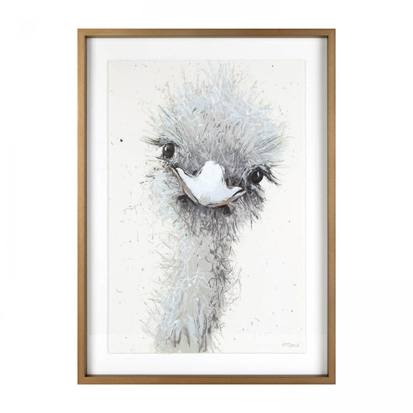 Mabel the Ostrich Framed & Glazed Print Picture - Caths Direct