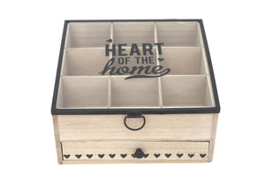 Heart Of the Home Wooden Tea Box - Caths Direct