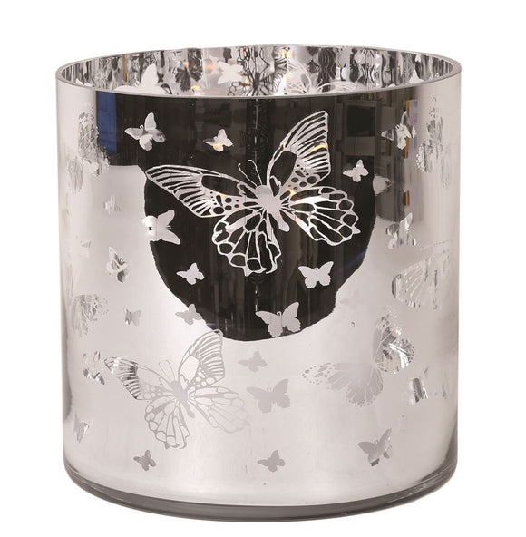 Extra Large Butterfly Pillar Holder 25cm - Caths Direct