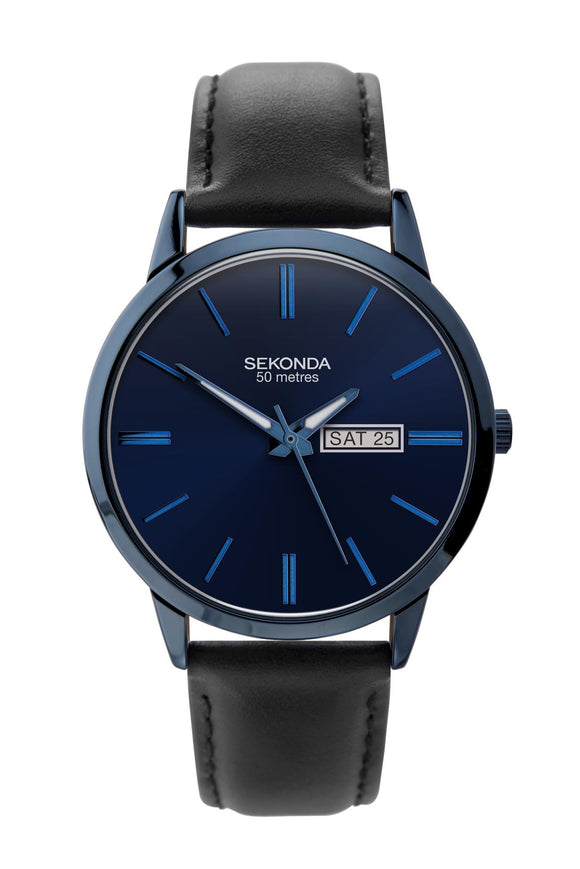 Sekonda Men's Blue Watch with Black Strap 1843 - Caths Direct