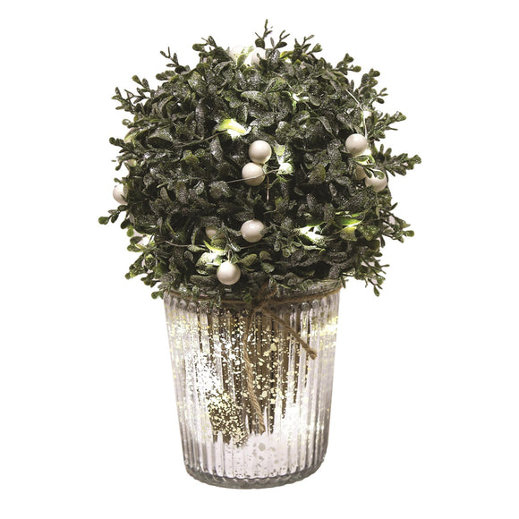 LED White Berry Ball Christmas Decoration 33cm - Caths Direct