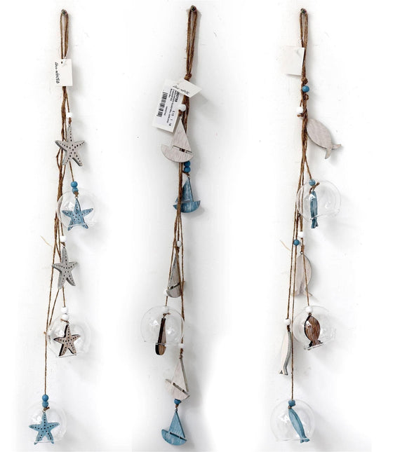 Hanging Nautical Glass Garland - Caths Direct