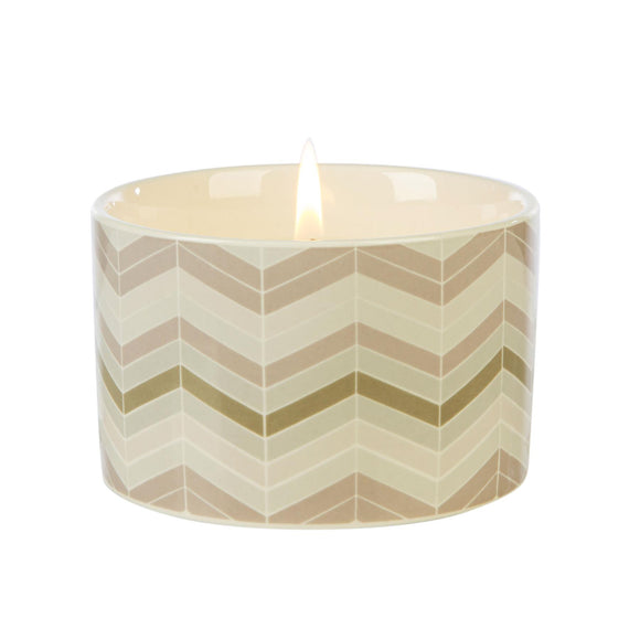 Fired Earth Design Medium Ceramic Candle Darjeeling & Damask Rose - Caths Direct