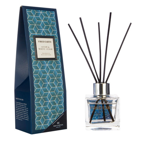 Fired Earth Assam & White Cedar New 100ml Reed Diffuser - Caths Direct