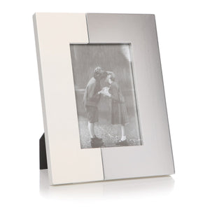 Duo Silver & White Photo Frame 4 x 6 - Caths Direct