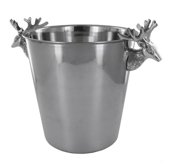 Large Stainless Steel Deer Style Wine Bottle Cooler - Caths Direct