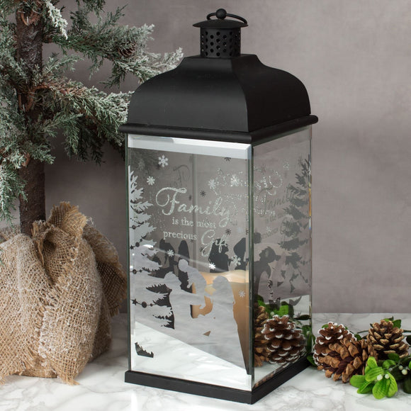 Family Christmas LED Candle Lantern - Caths Direct