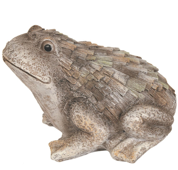 Carved Effect Frog Garden Ornament 18cm - Caths Direct