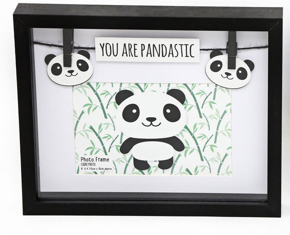 'You Are Pandastic' Black Coloured Panda Style Photo Frame