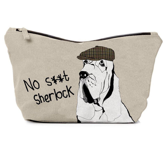 Bloodhound Dog Design No S**t Sherlock Gents Wash Bag - Caths Direct