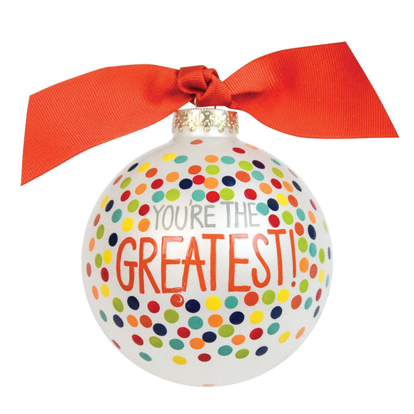 GREAT-GRTDOT Coton Colors Bauble 10cm You're The Greatest - Caths Direct