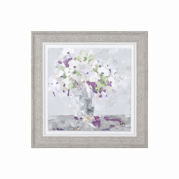 Symphony - Glazed Framed Floral Print 25cm x 25cm - Caths Direct