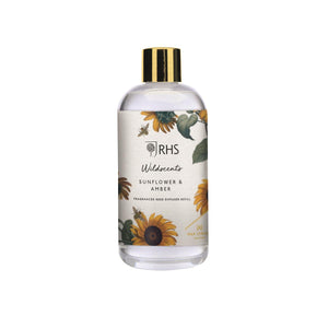 Wax Lyrical RHS Wildscents Sunflower & Amber Reed Diffuser Refill 200ml - Caths Direct