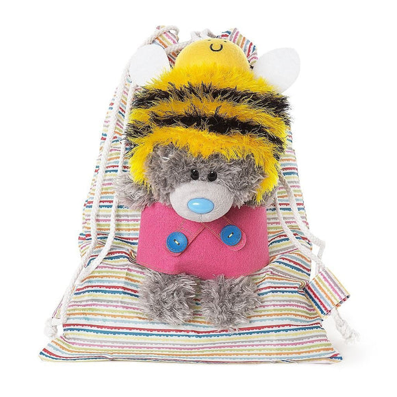 My Dinky Bear Drawstring Pouch Bag Multi Coloured Bag Me To You - Caths Direct