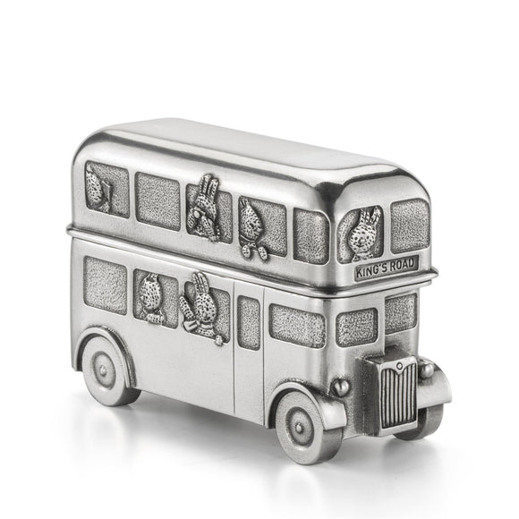 Royal Selangor Bunnies Day Out Route Master Double Decker Bus Trinket Box