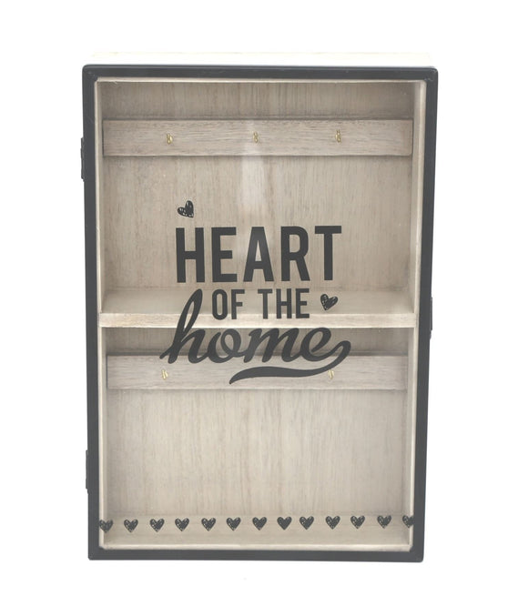 Premium Heart Of The Home Wooden Key Box - Caths Direct