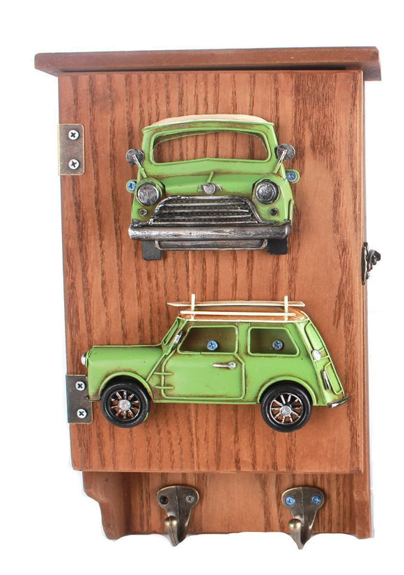 Green Retro Car Design Key Box - Caths Direct