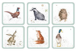Wrendale Country Animal Coasters Set of 6 - Caths Direct