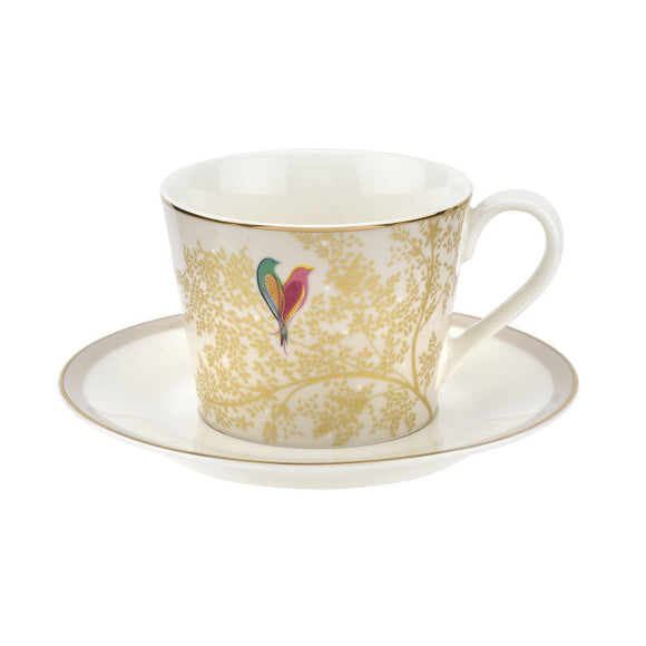 Portmeirion Sara Miller Chelsea Collection Cup & Saucer Light Grey - Caths Direct