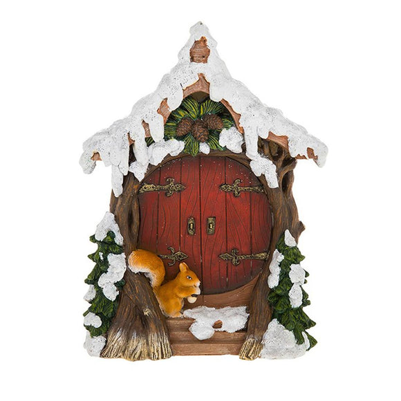 Fairy Glade Christmas Squirrel Door - Caths Direct