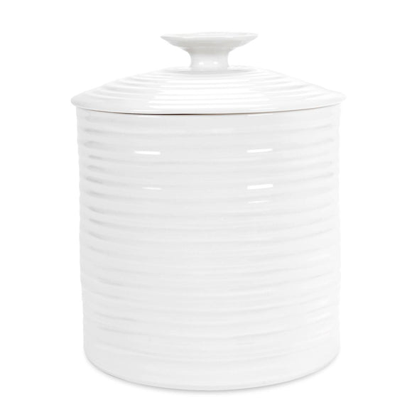 Portmeirion Sophie Conran White Storage Jar Large 16cm - Caths Direct