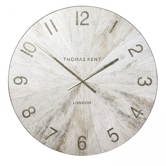 Wharf Pickled Oak Oversized Wall Clock 45
