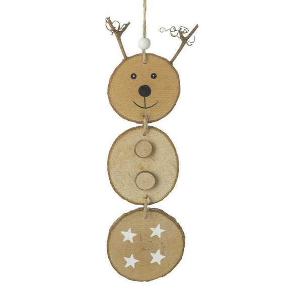 Wooden Reindeer Hanging Decoration