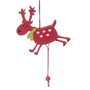 Wooden Jumping Reindeer - Caths Direct