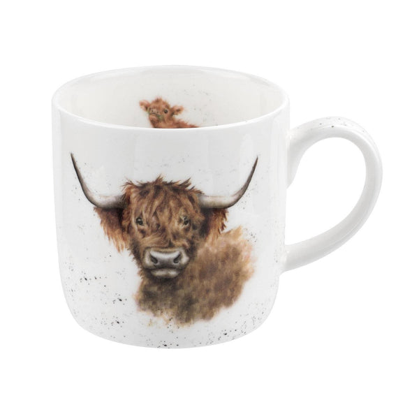 Wrendale Design Highland Cow Fine China Mug - Caths Direct