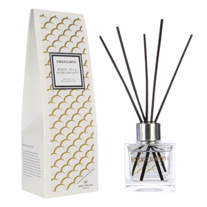 Fired Earth White Tea & Pomegranate New 100ml Reed Diffuser - Caths Direct