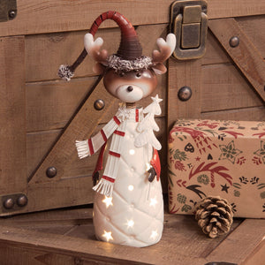 LED Reindeer Christmas Ornament - Caths Direct