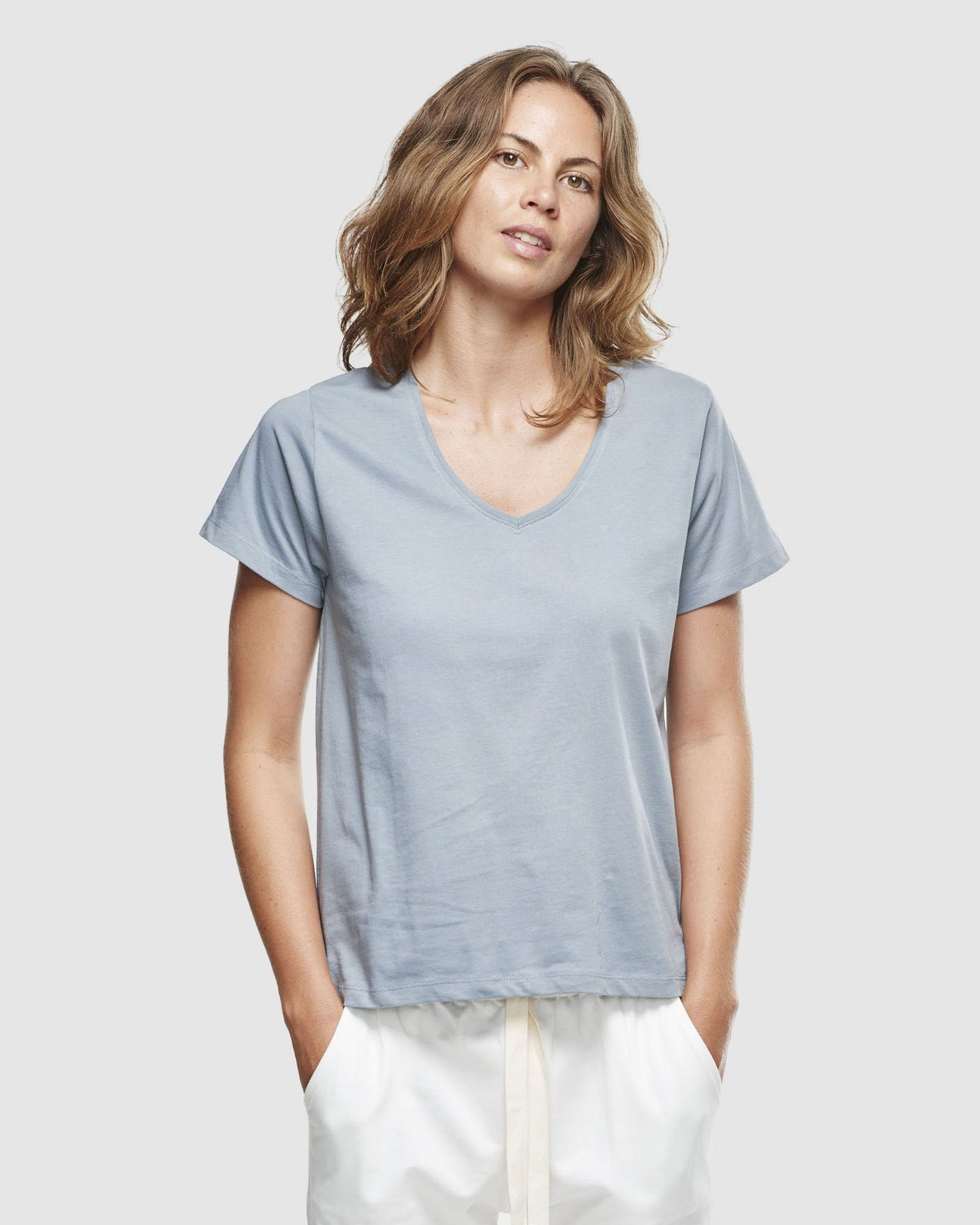 Classic V Neck Tee | Perriwinkle