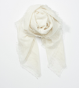 Cashmere Linen Scarf | Ivory