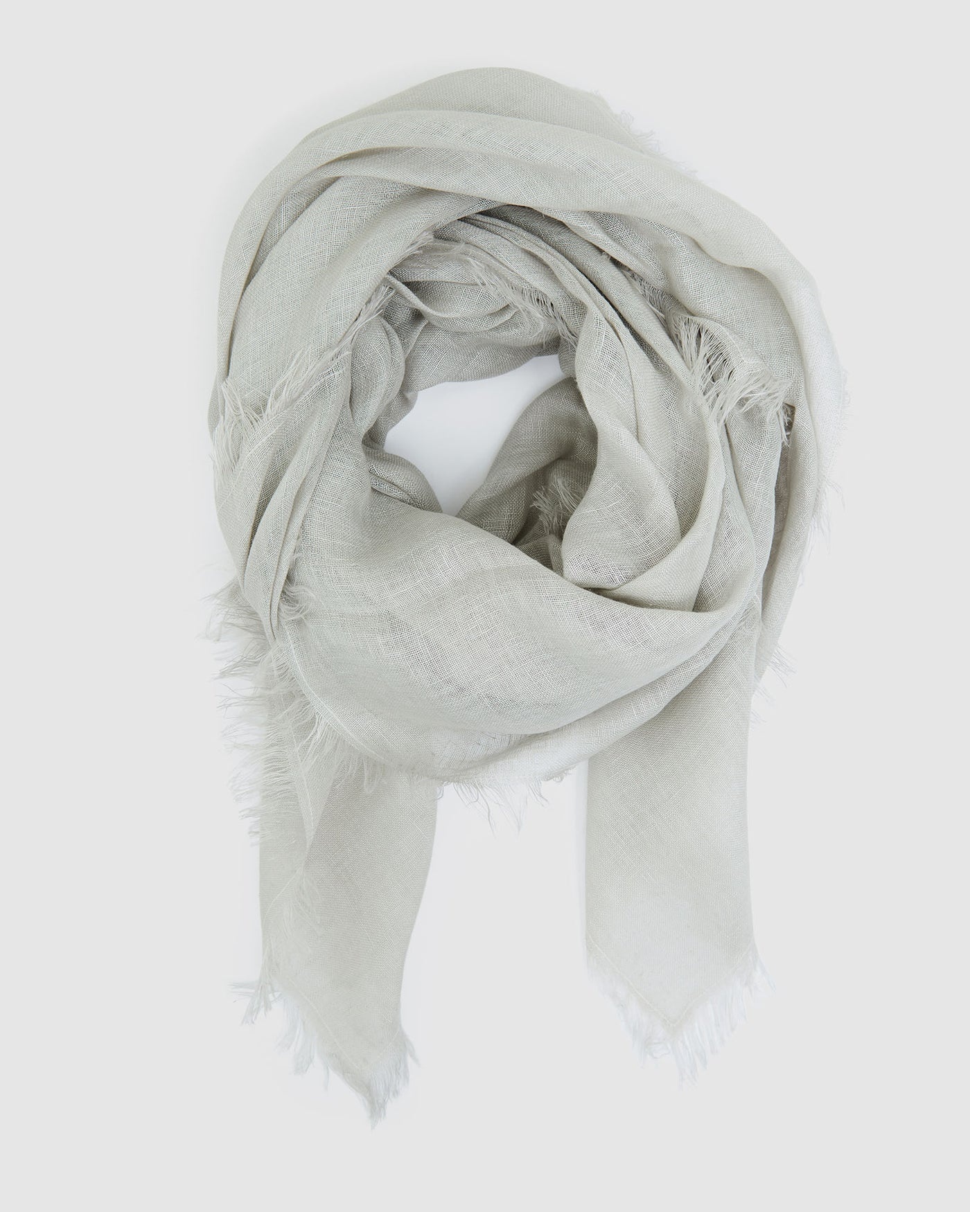 Linen Scarf | Winter Fog