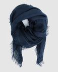 Linen Scarf | French Navy