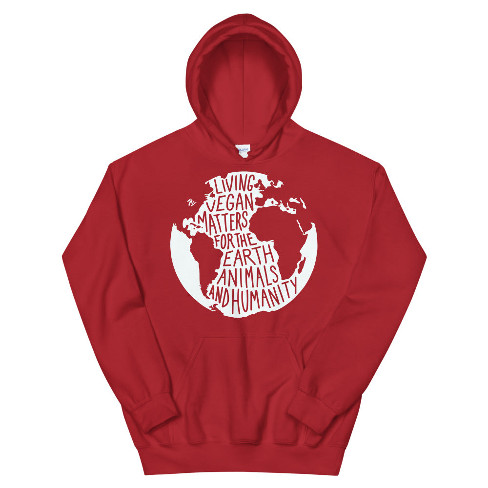 Living Vegan Matter Earth | Hoodie (red)
