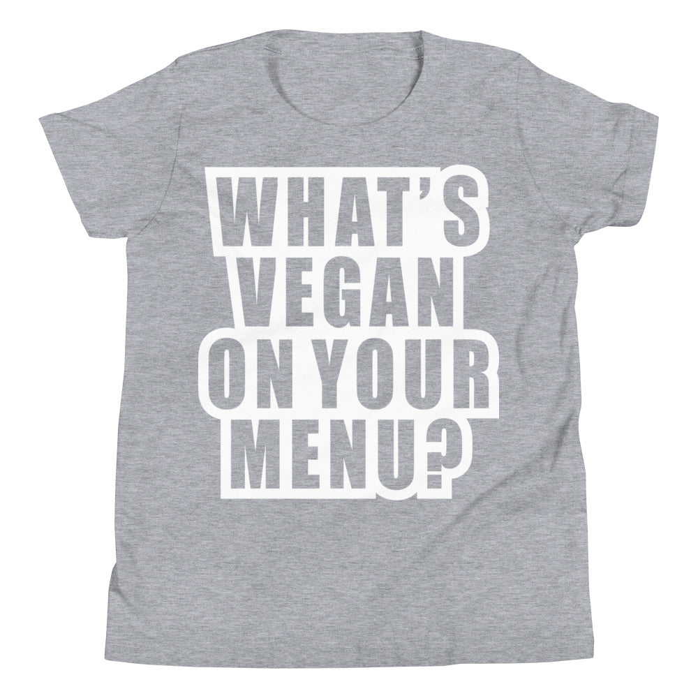 What's Vegan On Your Menu? | Youth Tee