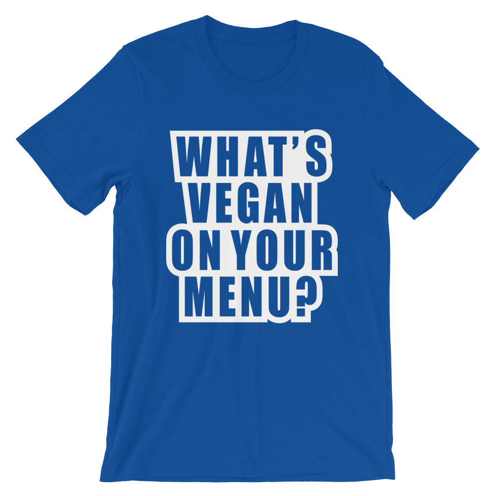 What's Vegan On Your Menu | Vertical Tee