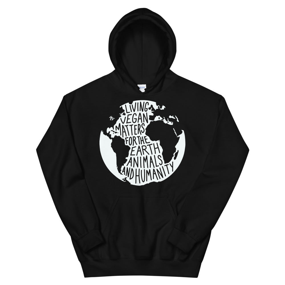 Living Vegan Matter Earth | Hoodie (black)