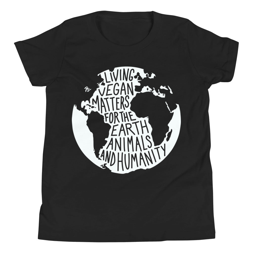 Living Vegan Matters Earth Youth Tee