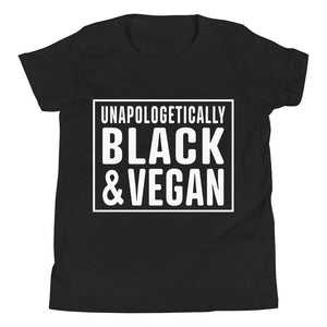 Open image in slideshow, Unapologetically Black and Vegan Youth Tee
