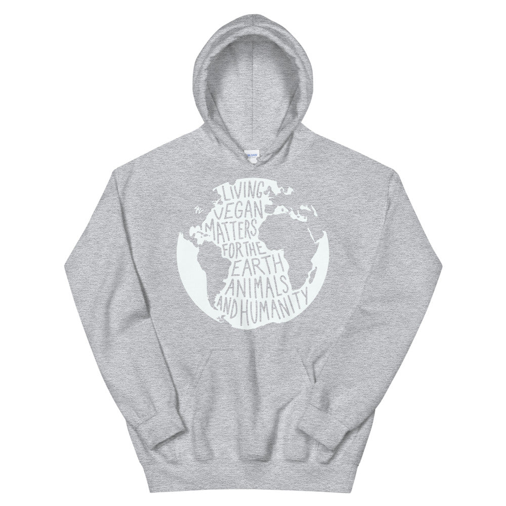 Living Vegan Matter Earth | Hoodie (Grey)